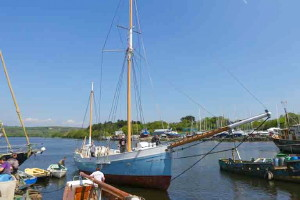 Historic ketch 'Ilen' launched