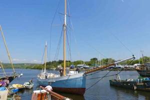 Historic ketch 'Ilen' launched