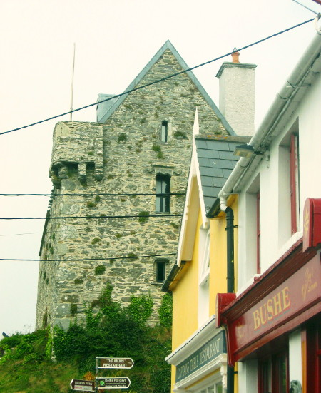 Dún na Séad dominates the village square