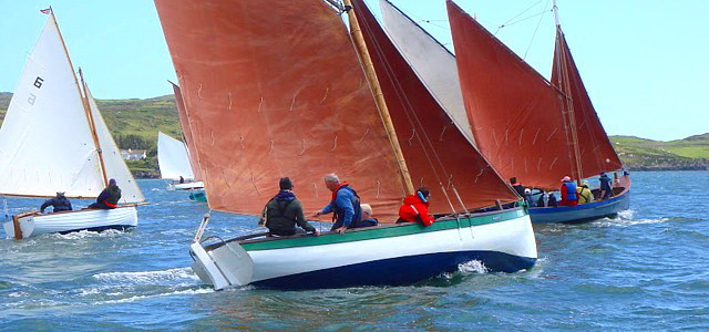 Traditional sailing craft at the annual Wooden Boats Festival