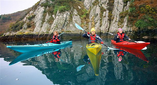 Kayakers on Lough Hyne